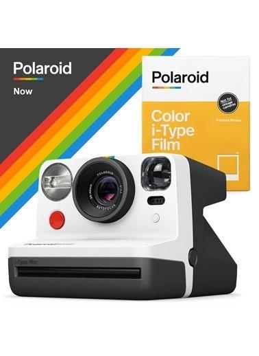 Polaroid Polaroid Now Siyah Beyaz Instant Fotoğraf Makinesi ve 8'li Film Hediye Seti Beyaz